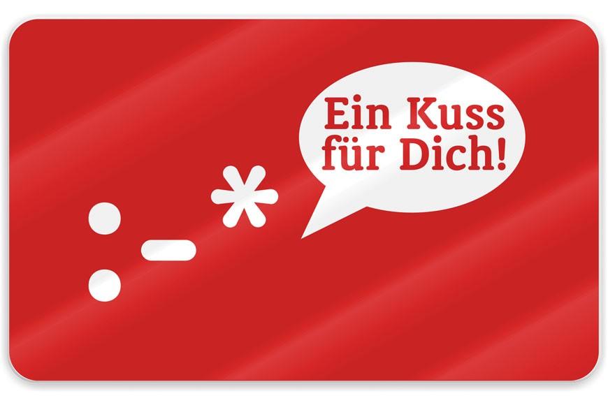 La Vida Schneidbrett Ein Kuss für Dich! :* rot 23x14cm