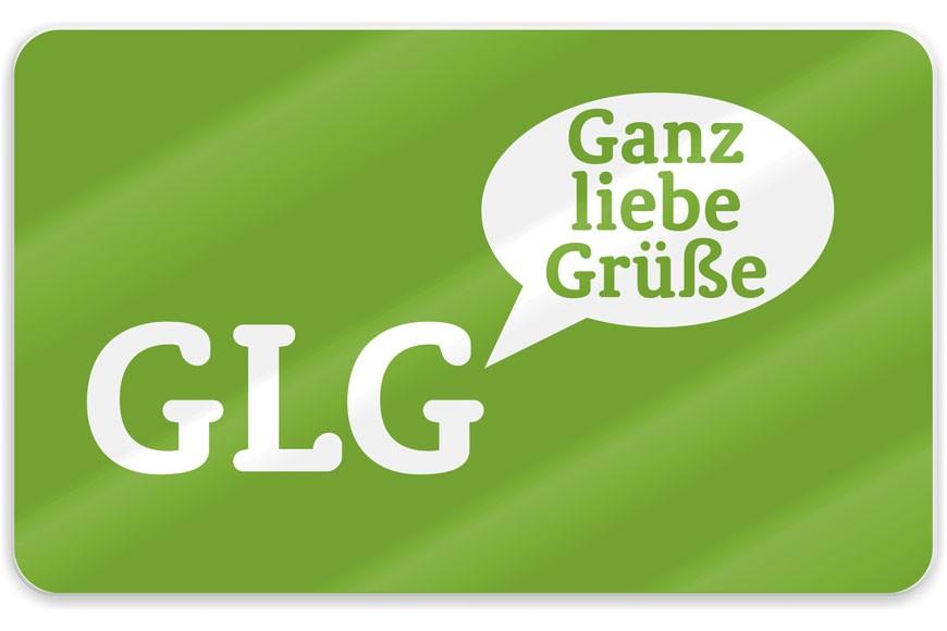 La Vida Schneidebrett GLG Ganz liebe Grüße grün 23x14cm