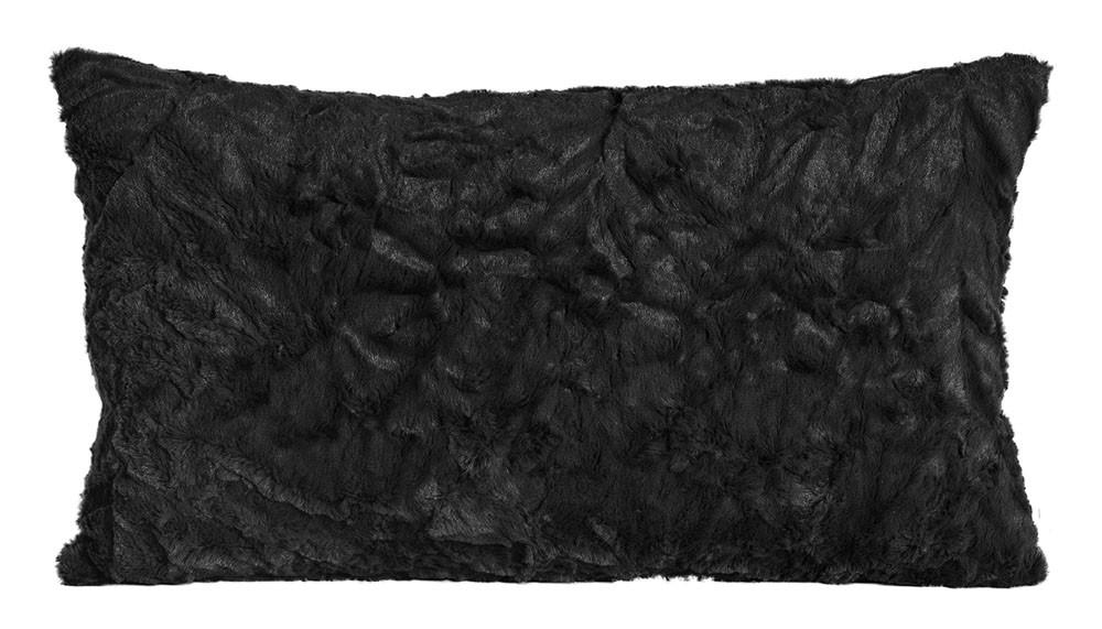 Kissen Kuschelkissen Dekokissen Fluffy schwarz 30x50cm