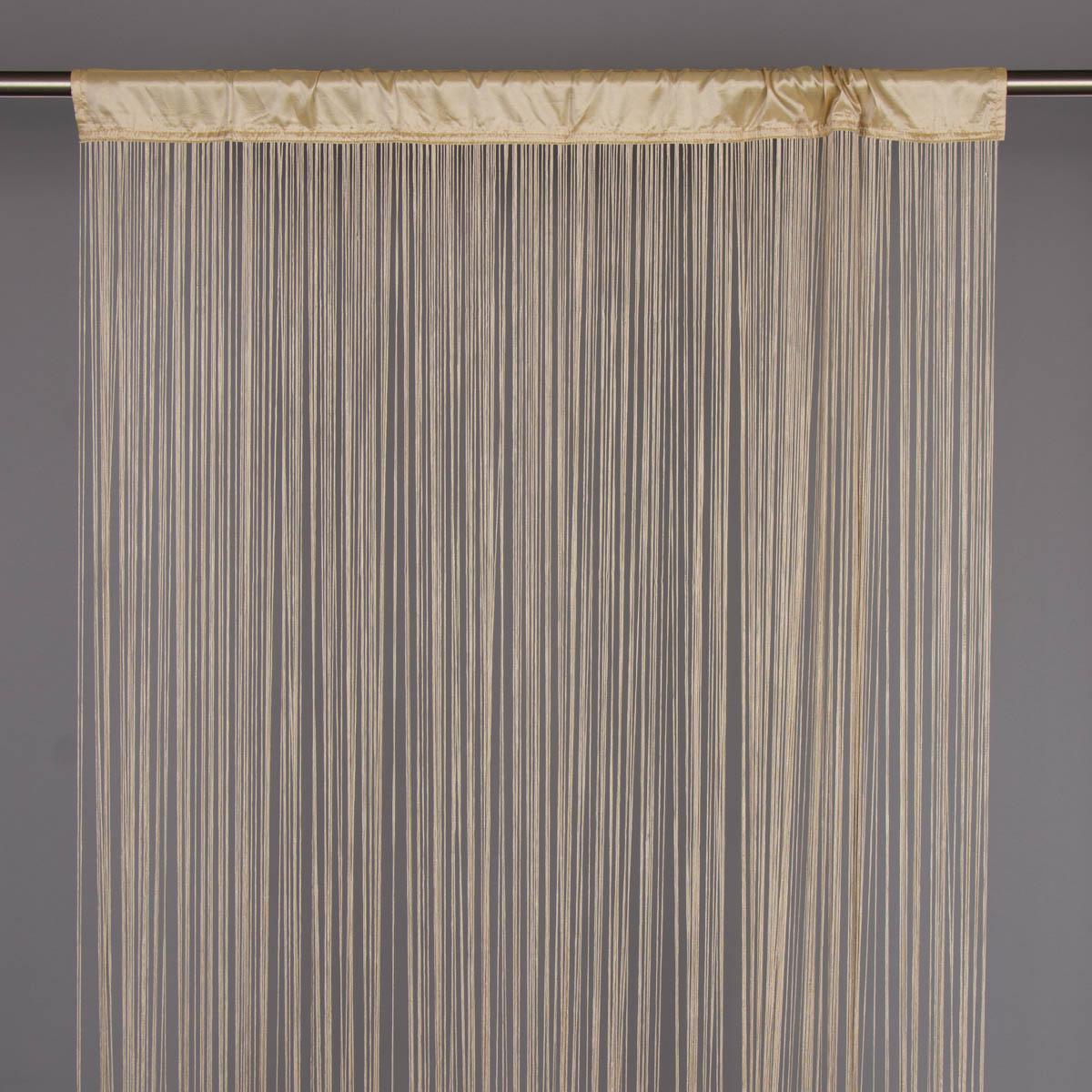 Fadenvorhang Fadengardine 100x250cm Waterfall hellgold