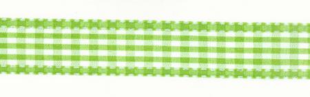 Band Zierband apfelgrün kariert Breite: 2,5cm