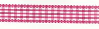 Band Zierband pink kariert Breite: 2,5cm 001