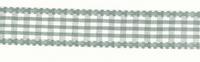 Band Zierband grau kariert Breite: 2,5cm 001