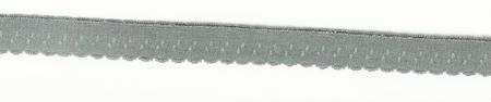 Gummiband Elastic Abschlussspitze Zierband grau Breite: 1,2cm