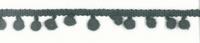 Bommelborte PomPom Borte Zierband grau Breite: 0,5cm