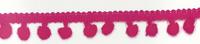Bommelborte PomPom Borte Zierband pink Breite: 0,5cm