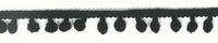 Bommelborte PomPom Borte Zierband schwarz Breite: 0,5cm