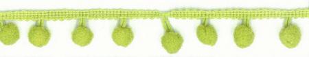 Bommelborte PomPom Borte Zierband lime Breite: 0,8cm