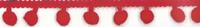 Bommelborte PomPom Borte Zierband rot Breite: 0,8cm
