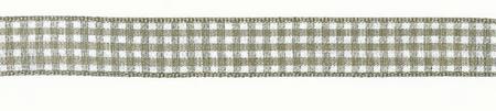 Band Zierband kariert hellbraun Breite: 1,5cm