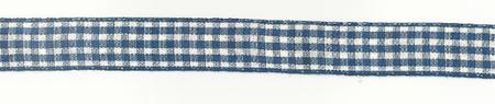 Band Zierband kariert kobaltblau Breite: 1,5cm