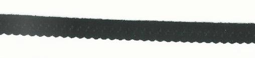 Gummiband Elastic Abschlussspitze Zierband schwarz Breite: 1,2cm