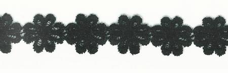 Blumenband Zierband schwarz Breite: 2,5cm