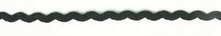 Zackenlitze Zierband schwarz Breite: 0,5cm