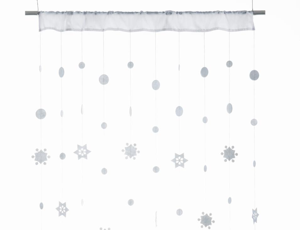 Vorhang SNOWFALL weiß 90x250cm