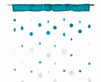Vorhang Schneeflocken SNOWFALL türkis 90x250cm 001