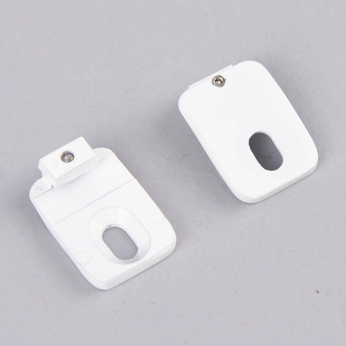 Serie Boston Deckenträger Mini 2 Stück für Profil Ø16mm weiß