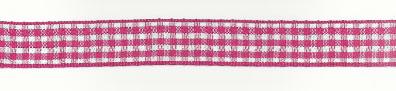 Band Zierband kariert pink Breite: 1,5cm