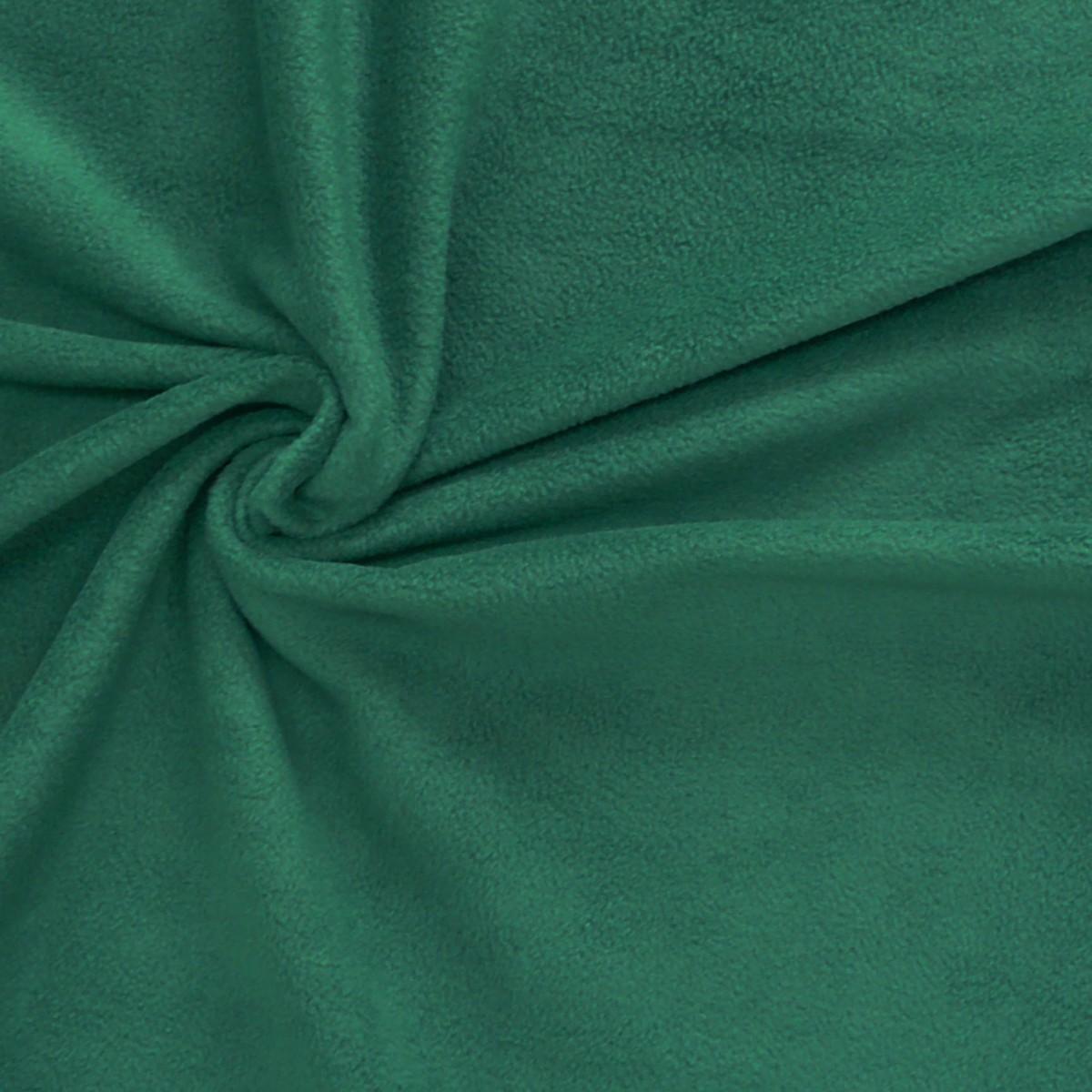Polar Fleece Stoffe Fleecestoff tannengrün