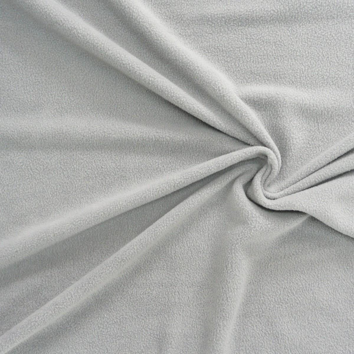 polar fleece stoffe fleecestoff hellgrau stoffe stoffe uni fleece. Black Bedroom Furniture Sets. Home Design Ideas