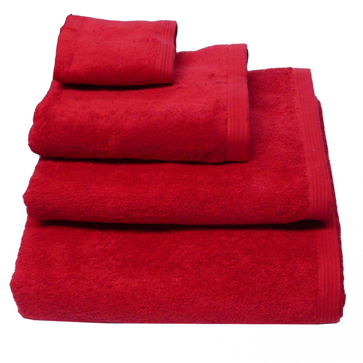 Premium-Frottee Handtuch Duschtuch Gästetuch Rot 580g/qm