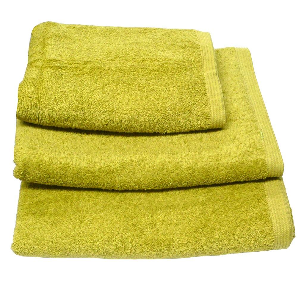 Premium-Frottee Handtuch Duschtuch Gästetuch 580g/qm apfelgrün