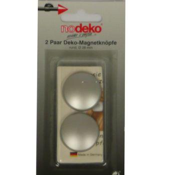 Magnetknopf Dekomagnet rund edelstahl Ø28mm 2er Pack – Bild 2