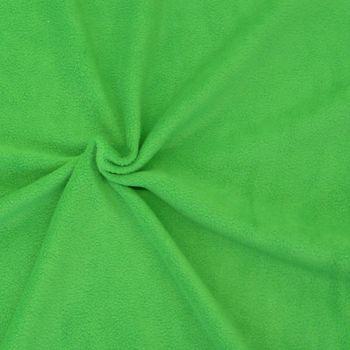 Polar Fleece Stoffe Fleecestoff gras grün