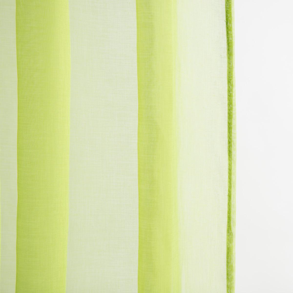 Ösenschal Fertiggardine CRISS CROSS apfelgrün 135x245cm