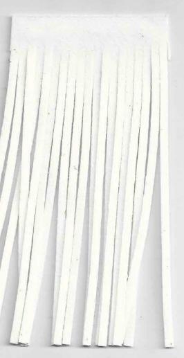 Fransenband weiß Länge: 12cm 100% Kunstfaser Wildleder