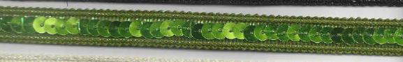 Band mit Pailletten lime Breite: 1cm