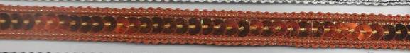 Band mit Pailletten orange Breite: 1cm