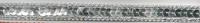 Band mit Pailletten silber Breite: 1cm