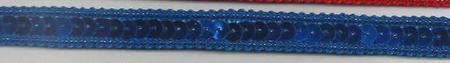 Band mit Pailletten blau Breite: 1cm
