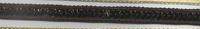 Band mit Pailletten braun Breite: 1cm 001