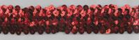 Gummi Pailletten rot Breite: 3cm