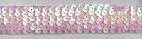 Gummi Pailletten rosa Breite: 3cm