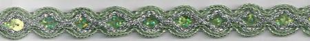 Glitzer Pailletten Band grün Breite: 1,5cm