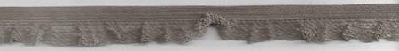 Gummiband mit Rüschen taupe Breite: 1,5cm