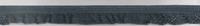 Gummiband mit Rüschen anthrazit Breite: 1,5cm