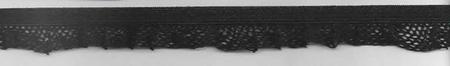 Gummiband mit Rüschen schwarz Breite: 1,5cm