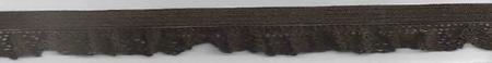 Gummiband mit Rüschen dunkelbraun Breite: 1,5cm