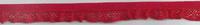 Gummiband mit Rüschen rot Breite: 1,5cm