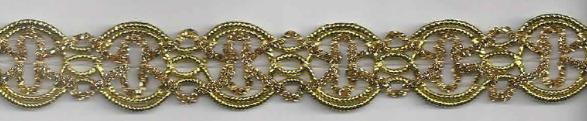 Band Glitzer gold Breite: 2cm