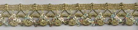 Band Glitzer gold Breite: 2,5cm