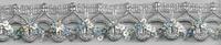 Band Glitzer silber Breite: 2,5cm