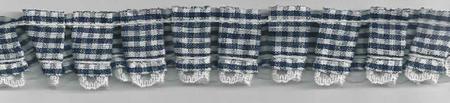 Rüschenband kariert dunkelblau Breite: 2,5cm