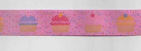 Ripsband Muffin rosa Breite: 2,5cm