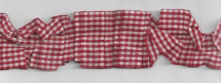 Rüschenband beidseitig kariert rot Breite: 3,5cm