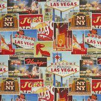 Baumwollstoff Stoff Dekostoff Meterware Las Vegas